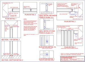 Frameless Door Technical Drawings